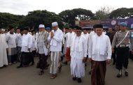 Peringati  Hari Santri Nasional 2019, Waled Nu Pimpin Doa di Blang Padang